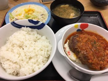トマトフォンデュソースのビーフハンバーグステーキ定食.jpg